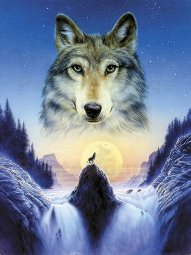 dining room sets andrew farley cosmic wolf poster posterlounge