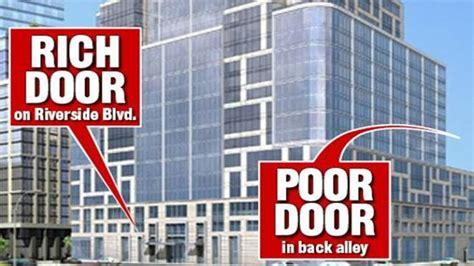poor door nyc should so called poor doors been banned in new york