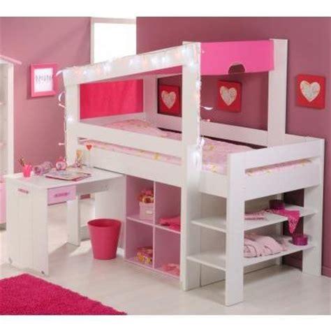 lit mezzanine avec bureau pour fille visuel 6