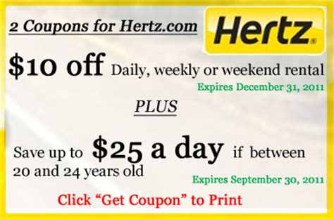 20224 Hertz Promotional Coupon Code by Printable Coupon 2 Coupons For Hertz Car Rentals