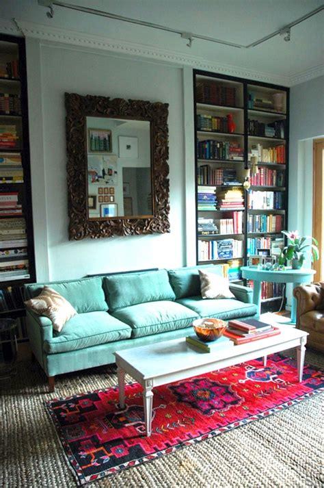 sofa turquesa sala 14 salas decoradas color turquesa