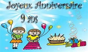 Carte Anniversaire Fille 9 Ans : carte anniversaire enfant 9 ans virtuelle gratuite imprimer ~ Melissatoandfro.com Idées de Décoration