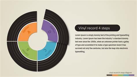 steps vinyl record powerpoint diagram slidemodel