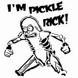 Rick Pickle Stencil Coloring Stencils Designs Longquang Morty Cricut Pickles Tips sketch template