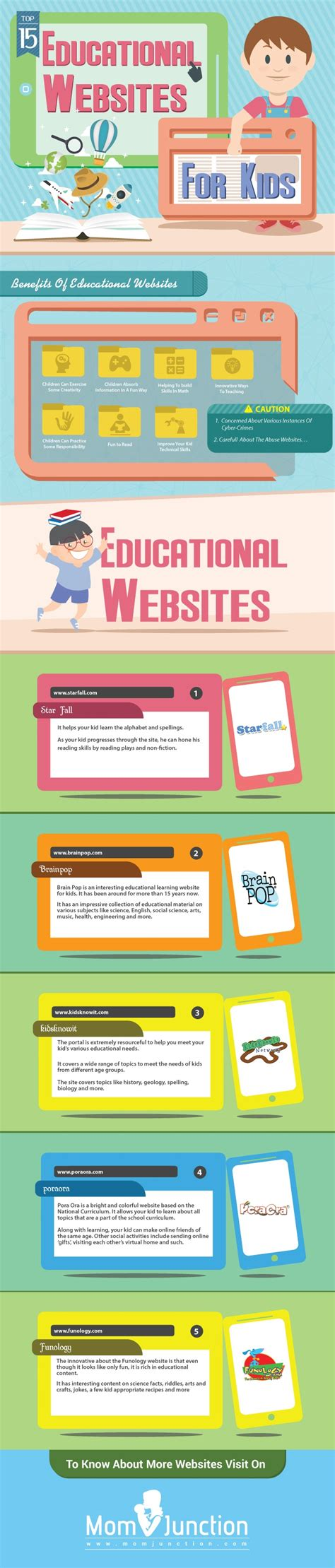 Top 5 Educational Websites For Kids Infographic  Elearning Infographics