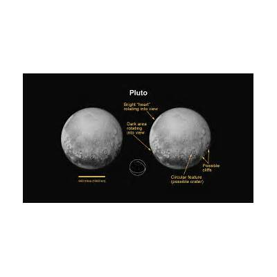 Pluto's North Pole Equator and Central MeridianNASA