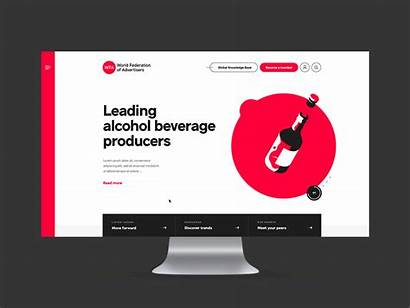 Homepage Dribbble Wfa Website Shots Wrapped Recently