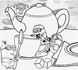 Minion Coloring Pages Minions Printable Rush Sheets Cartoon Tea Drawing Banana Table Activities Colouring Teapot Printables Vector Google Zoeken Draw sketch template
