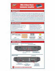 Block Subwoofer Amplifier Vra1 0 Manuals