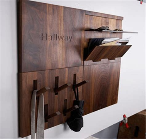 contemporary hallway storage modern and compact hallway storage solution made of wood digsdigs