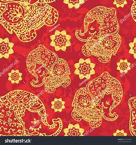 Image Gallery indian elephant pattern