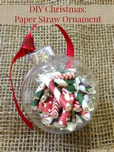 12 days of diy ornaments paper straw ornament diy