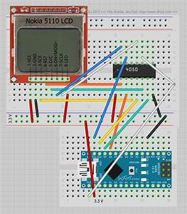 Connecting Nokia 5110 Lcd  Philips Pcd8544  To Arduino