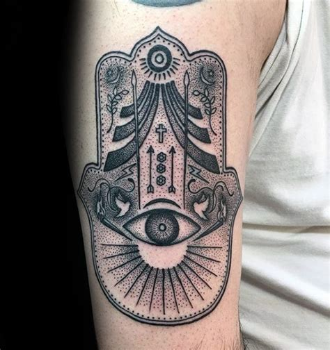 hamsa tattoo designs  men evil eye ink ideas