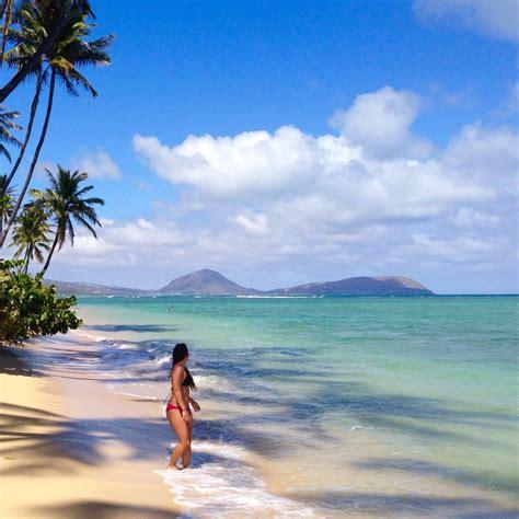 kahala beach honolulu oahu hawaii beautiful beach by
