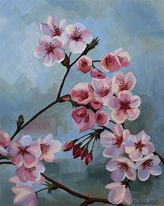 Cherry Blossom Tree Oil Painting images