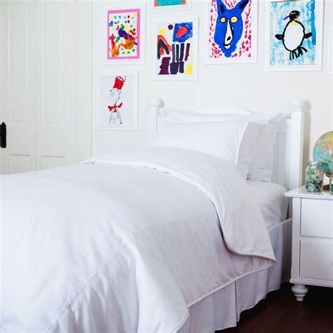 solid white duvet cover carousel designs