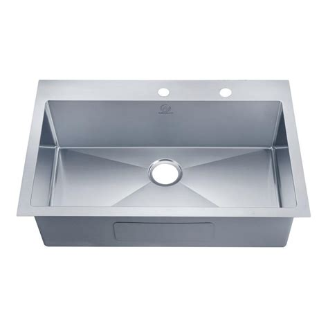 one bowl kitchen sink glacier bay dual mount stainless steel 33 in 4 hole