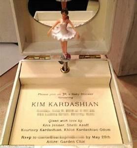 Kim Kardashian's baby shower invite a ballerina music