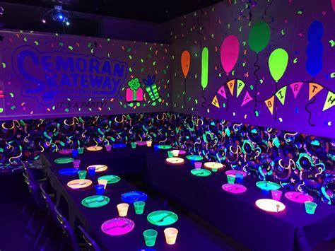 black light room birthdays semoran skateway