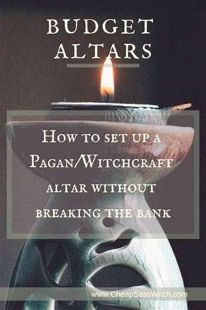 Altar Witchcraft Wiccan Setting Witch Eclectic Pagan