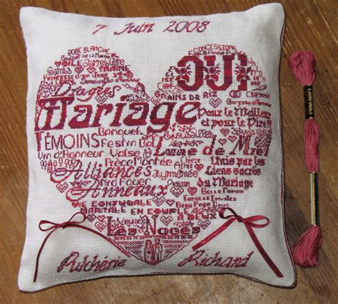 coussin alliance a broder exemple de coussin alliance mariage a broder