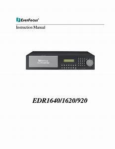 Edr 810 Manuals
