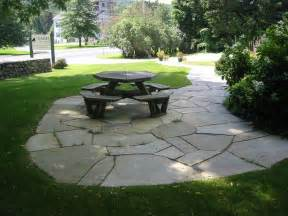 Stone Patio Picture Natural Square Cut Flagstone Patio Stone Patio Designs As Happiness Resources
