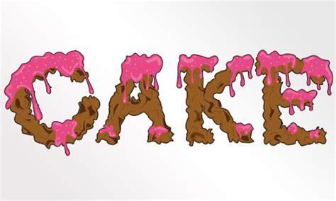 create  dripping icing cake font designbump