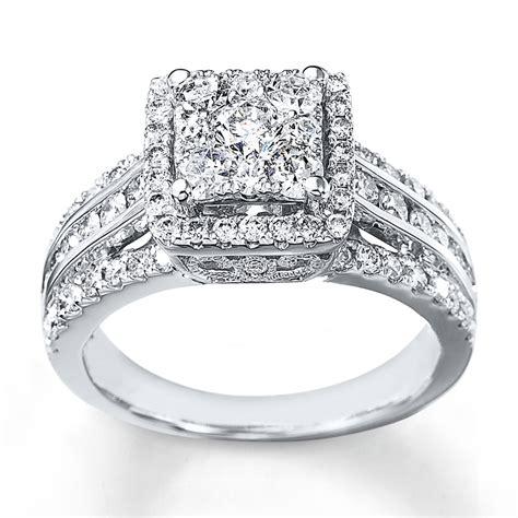 wedding rings kays diamond engagement ring 1 1 2 cts tw cut 14k white gold