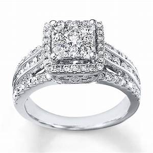 Kay diamond engagement ring 1 1 2 cts tw round cut 14k for Kay jewelers wedding ring