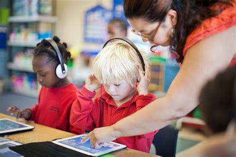 Teacher Using Technology In The Classroom
