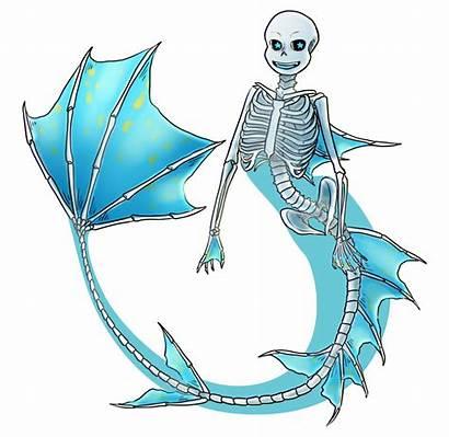 Undertale Mermaid Some Skeletal Tired Ribcage Bones