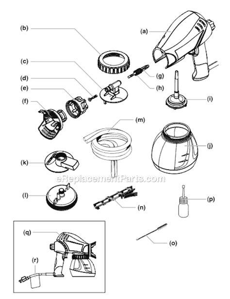 wagner power painter  parts list  diagram