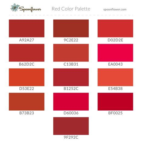 different color reds color palette fabric spoonflower help spoonflower