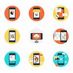 Icon Mobile Phone Vector Icons Apps Cell