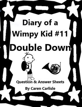 Diary of a Wimpy Kid-Double Down #11 Q & A Sheets + 2