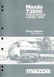 Mazda T Series 1987 Factory Wiring Diagram Manual T3500