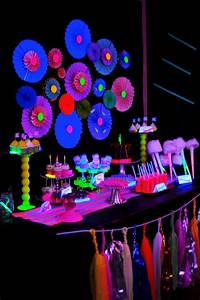 Ideas for Your Glow in the Dark Theme Mitzvah, Party