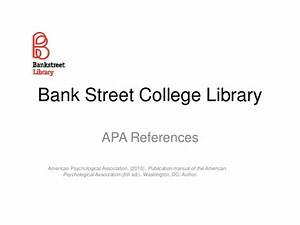 Apa Reference Lists 6th Ed