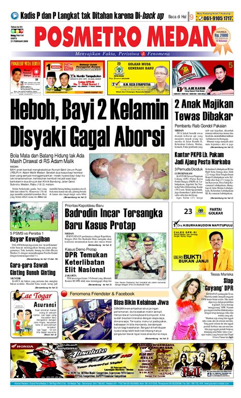 Harga Aborsi Medan Posmetro Medan By Simon Sinaga Issuu