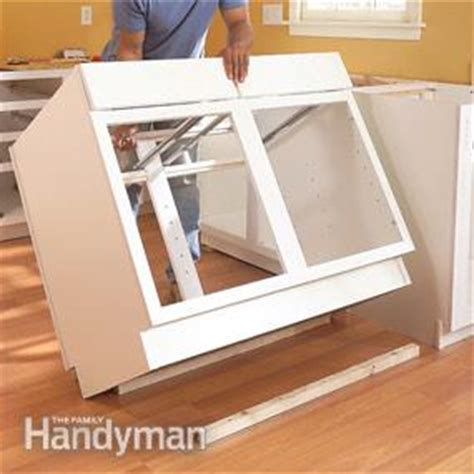 diy kitchen island plans how to install kitchen cabinets family handyman