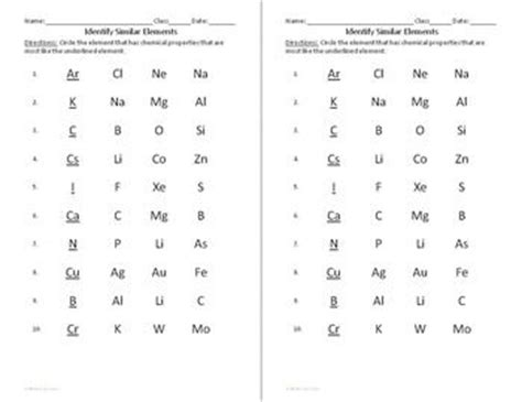 Chemistry Worksheets 2 For Interactive Notebooks Atoms And Molecules  Atoms And Worksheets