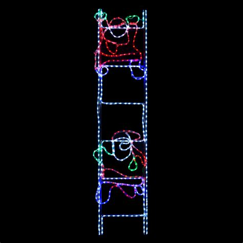 santa climbing ladder 2m rope light led
