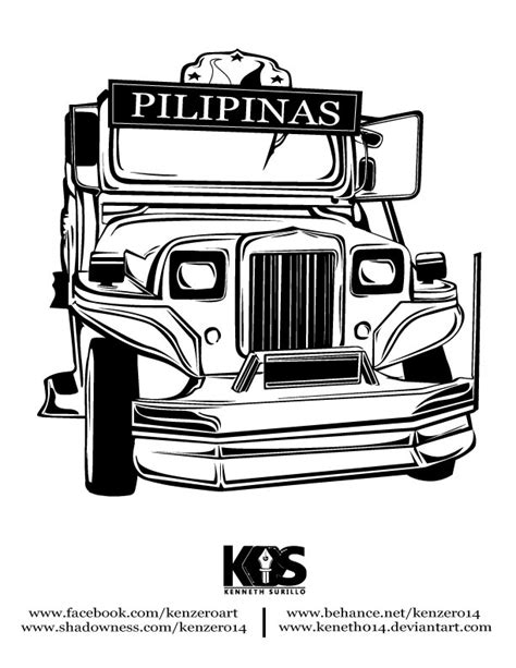 jeep philippines drawing philippines jeepney clip art black and white pictures to