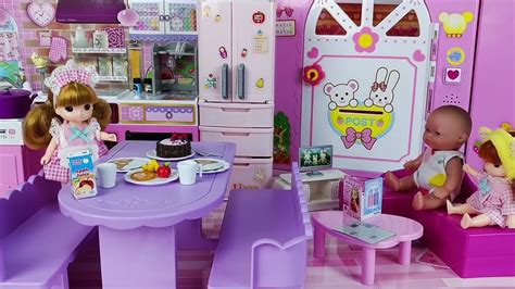 baby doll  kids house toys kitchen play toys youtube