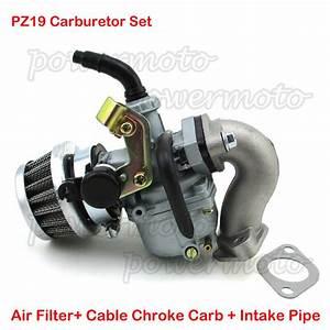 Pz19 Carburetor Carb Air Filter Intake For Chinese 50cc