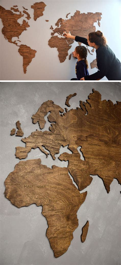 10 World Map Designs To Decorate A Plain Wall Contemporist