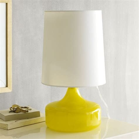 perch table lamp yellow modern table lamps  west elm