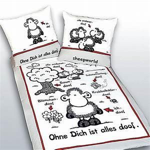 Alles Ist Doof : sheepworld bettw sche ohne dich ist alles doof gr e 135 x 200 cm ~ Eleganceandgraceweddings.com Haus und Dekorationen